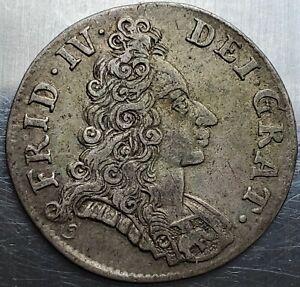 8 Skilling Dansk 1702 (f) Frederik IV DEI GRAT Denmark Highly Grade / Very Rare!