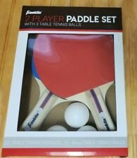 Franklin Ping Pong Table Tennis Paddles 2 Player Set Paddle With 3 Balls *NEW*