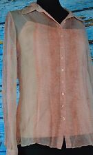 Elie Tahari Women's Sheer Silk Shirt Size M With Tank Top Size XS Two Piece