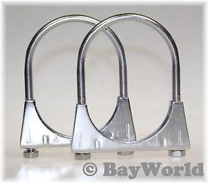 2 x Extra lange Edelstahl V2A M8x67mm Bügelschelle Antennen Montage Mastschelle