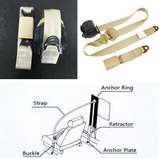 Practical 3 Point Retractable Car Seat Belt Bolt Extension Safety Strap Buckle