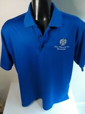 "ADIDAS ClimaLite Short Sleeve Golf Polo Shirt ""Trump National Golf Club""-Blue-XL"