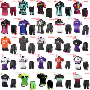 2020 New Women Cycling Jersey Set Summer Bike Outfits Bicycle Shirt+ shorts Suit
