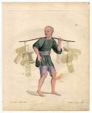 China-Chinesen-Kissenhändler-Kissen Kupferstich Dadley 1800 Ethnologie