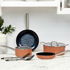 Copper Chef Black Diamond Ceramic Non-stick Stackable Cookware Set, 8 Piece
