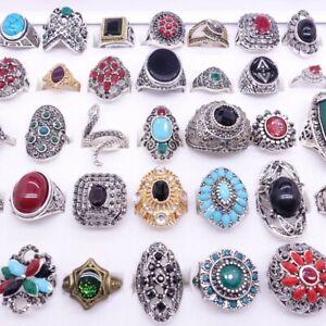 neu los 30stk gemischt Damen Mode Metalllegierung Schmuck Ringe Großhandel