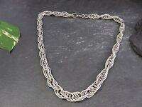 Moderne Silber 925 Kette Gliederkette Collier Modern Elegant Verschnörkelt Edel