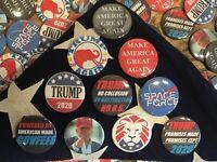 "x2 Donald Trump 2.25"" Random Buttons pin Campaign MAGA 2020 Covfefe"