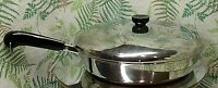 REVERE WARE 12 INCH FRYING PAN SKILLET POT COPPER BOTTOM 1801 COOKWARE W/ LID