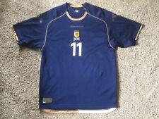 Diadora SCOTLAND Jersey Shirt Mens Sz L Navy/White Polyester #11 Brown