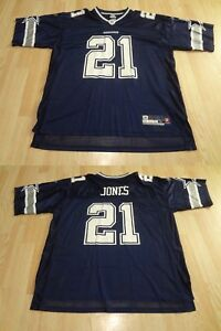 Men's Dallas Cowboys Julius Jones XL Jersey Reebok (Navy Blue) Jersey