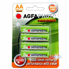 AGFA AA Rechargeable Batteries Power 800mAh Pack of 4