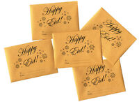 Eid Holiday Golden Mini Gift Envelopes for Gift Cards and Money (10 pack)