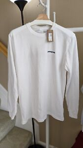 NWT Patagonia Men's Long-Sleeved Flying Fish Shirt S White MSRP $45