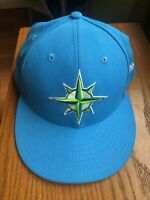 Seattle Mariners New Era MLB On-Field Authentic 7 5/8 59FIFTY Fitted Hat-Teal