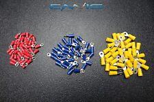 150 PK 10-12 14-16 18-22 GAUGE VINYL RING CONNECTORS 50 PCS EA TERMINAL #6