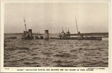 More details for scapa flow, orkney. scuttled german destroyer off fara # 6 by c.w.burrows