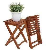 Blumenhocker Klapphocker Holz Beistelltisch Hocker Gartenhocker Holzhocker Tisch