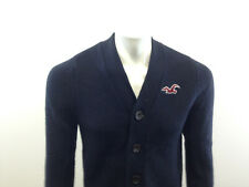 Hollister California Boy's Large Long Sleeve Solid Blue Cardigan Sweater