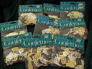 LOT OF 9 NEW PACKAGES OF PEACOCK PAPERS CONFETTI CONFETTIO'S OVER THE HILL DECOR