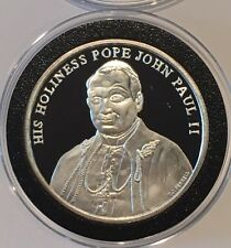 His Holiness Pope John Paul II Proof Coin 1 Troy Oz .999 Fine Silver Round RARE
