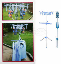 FOLDING MULTI PORTABLE STANDING TIER GARMENT CLOTHES SHIRT AIRER HANGER DRYER NT