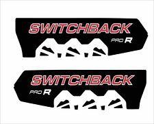 POLARIS RUSH PRO R switchback   600 800 PRO R 120 136 SHORT TUNNEL  DECAL red