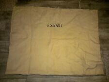 Vintage WWII WW2 US NAVY Foot Soldier Military Field Wool Blanket Throw Cream