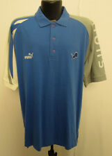 DETROIT LIONS LARGE POLO SHIRT VINTAGE RETRO VTG STITCH MENS NFL FOOTBALL PUMA