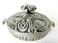 DON DRUMM 3 Qt Covered PAELLA PAN Cast Aluminum CA019 Abstract Round Dish