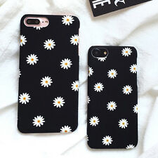 Ultra-thin Frosted Floral Lovely Daisy Flower Phone Case For iPhone 7 7plus New