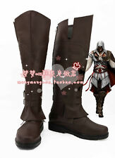 Assassin's C reed Ezio Auditore Da Firenze Cosplay Shoes Boots