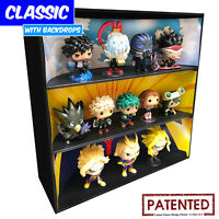 THEMED Display Cases for Funko Pops, Black Corrugated Cardboard