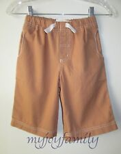 HANNA ANDERSSON Canvas Cropped Deck Pants Shorts Wicker 140 10 NWT