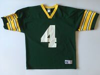 Vintage Logo 7 Brett Favre Green Bay Packers NFL Football Jersey L