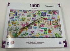 Sure-Lox 1500 Piece Jigsaw Puzzle Stamps  NEW Sealed