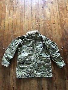 US Military Goretex APECS Multicam Pattern Parka Jacket Mens Medium Long Gen II