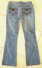 "Chip and Pepper Blue Jeans-Size 0-Zip Fly-Womens-27x29.5""-Flare Sexy Fit"