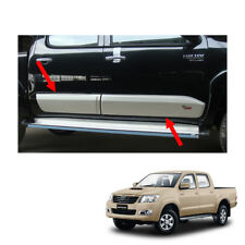 11 12 - 14 Body Cladding Side Molding Guard V1 Silver On Toyota Hilux Vigo Champ