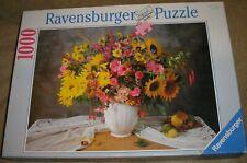 RAVENSBURGER 1000 Piece Jigsaw Puzzle. GLORIOUS FLOWER BOUQUET.