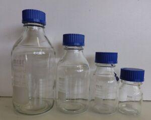 MESE Glass Reagent Bottle Borosilicate Blue Screw Cap 100, 250, 500,1000, 2000ml