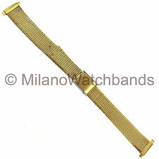 12-16mm Speidel Express Ladies Gold Tone Two Piece Metal Micro Link Watch Band
