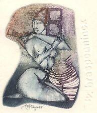 Erotic Ex Libris Peeters-Riga : W. Braspennincx