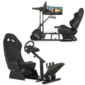 Racing Simulator Cockpit Gaming Chair With Stand Height Adjustable Stretchable