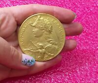 1900 Olympic Paris Felix Rasumny Splendid Art Nouveau Golden Bronze medal 50mm
