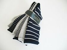 Ralph Lauren Womens Roll Top Trouser Socks 6 Pack  Navy Asst - New