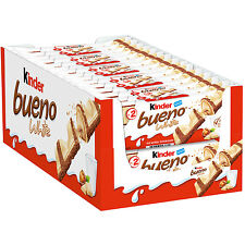 Ferrero Kinder Bueno WHITE Limited Edition Pack of 30 bars -Shipping Worldwide -