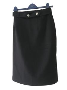 """Vintage Sixth Sense Black Pencil Skirt 28"""" Waist (Vintage C&A Size 12) UK 8"""