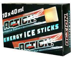 WASSEREIS ACTION ENERGY ICE STICKS Erfrischunksgetränk 100x 40ml Energie  06/21