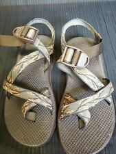 Womens Chaco Sports Sandal Sz 9 Brown/with peach floral straps